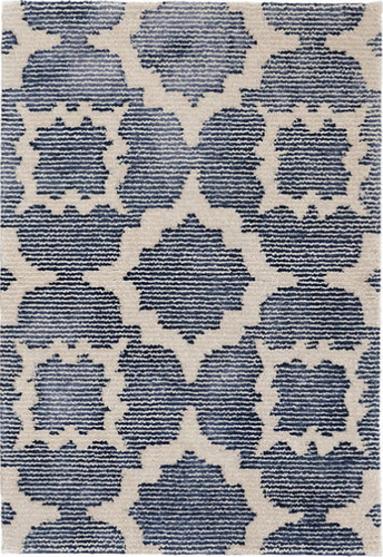 Dash And Albert China Blue Hand Knotted Wool Viscose Rug