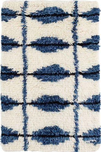 Dash And Albert Noma Indigo Woven Wool Rug For Sale