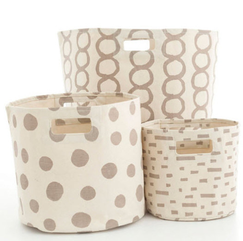 Pearl Grey Hamper/Bin in 3 Sizes