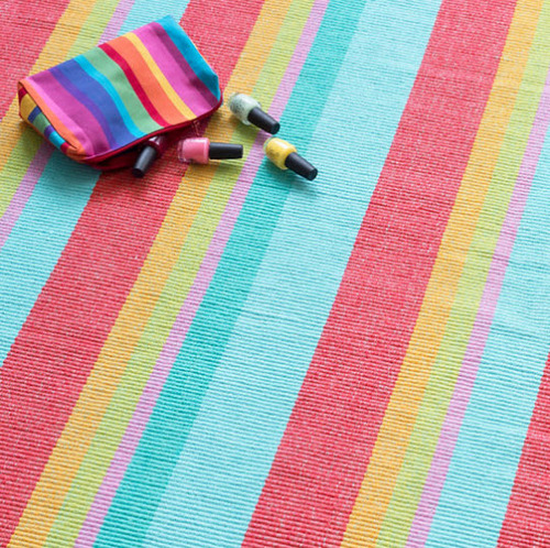 Tiki Stripe Cotton Rug