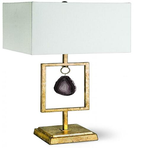 Display Lamp with Teal Agate