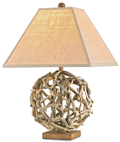 Driftwood Sphere Table Lamp<font color=a8bb35> Low Stock</font>