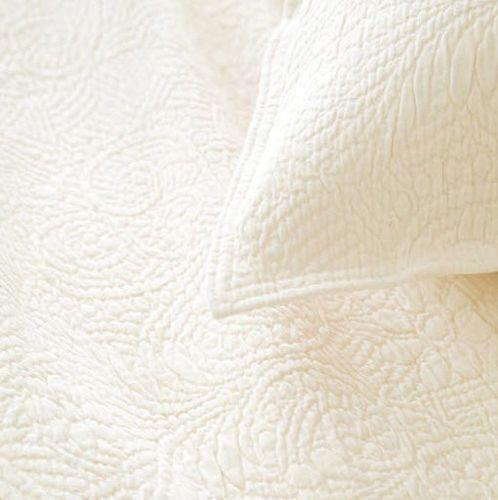 Elizabeth Matelasse Coverlet Ivory or White