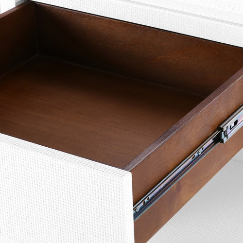 Fedor Grasscloth 2-Drawer Side Table