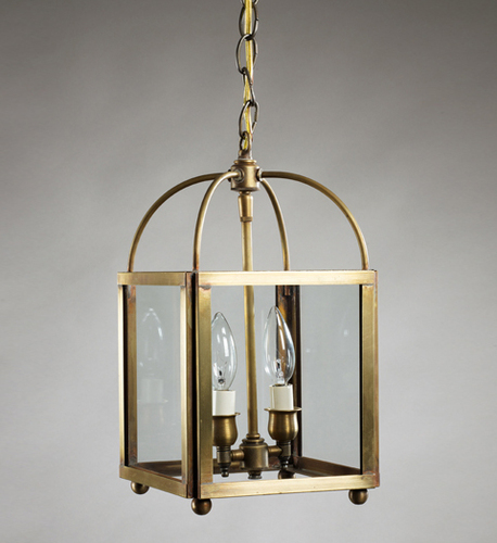Foyer 2-Light Square Hanging Fixture