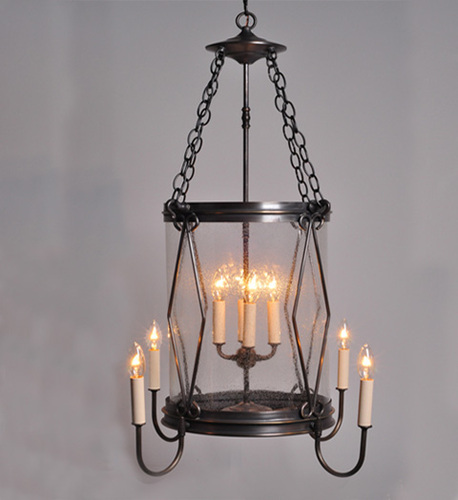 Foyer 8-Light Hanging Light Fixture with Diamond Accent