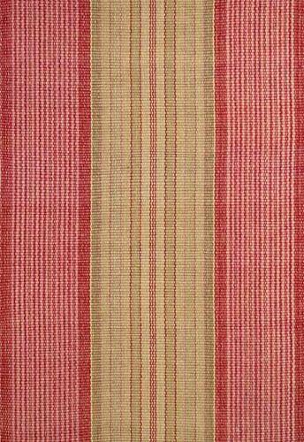 Framboise Ticking Cotton Rug