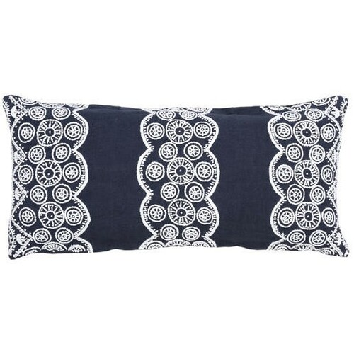 French Knot Natural Double Boudoir Pillow