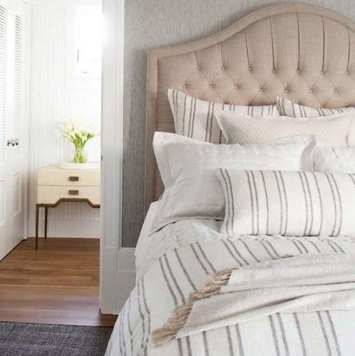 Hampton Ticking Natural Linen Duvet Cover