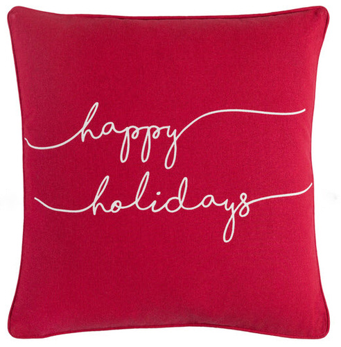Happy Holidays Pillow Red<font color=cf2317> 10% OFF</font>