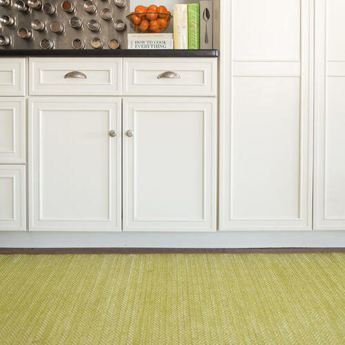 Herringbone Citrus Cotton Woven Rug