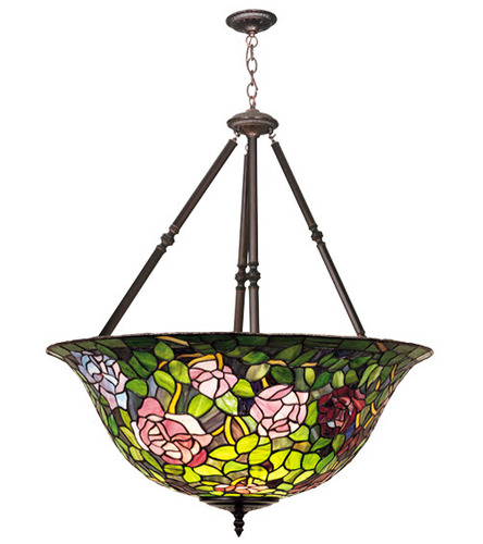Inverted Rosebush Pendant Light