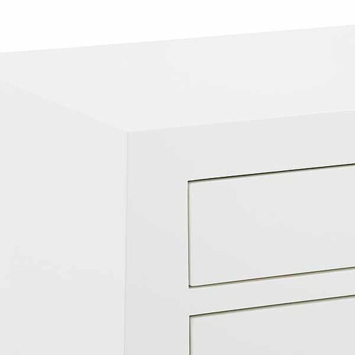 Jacqui 3 Drawer Side Table In White