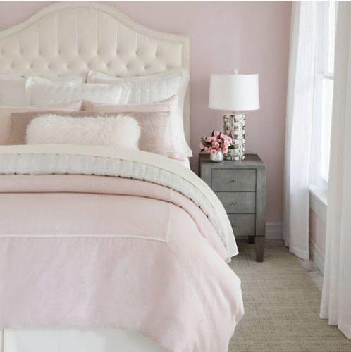 Keaton Linen Duvet Cover Slipper Pink