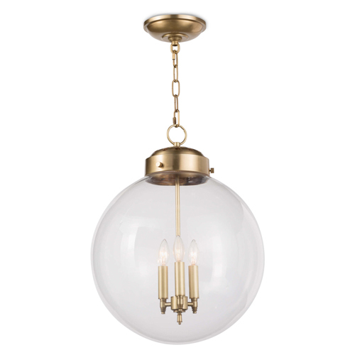 Large Globe Pendant Light - Two Finish Options