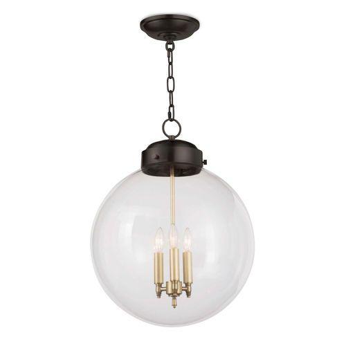Large Globe Pendant Light - Two Finish Options