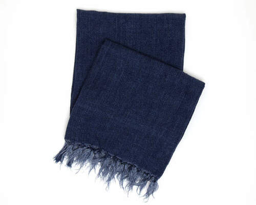 Laundered Linen Indigo Throw<font color=cf2317> 20% Off</font>