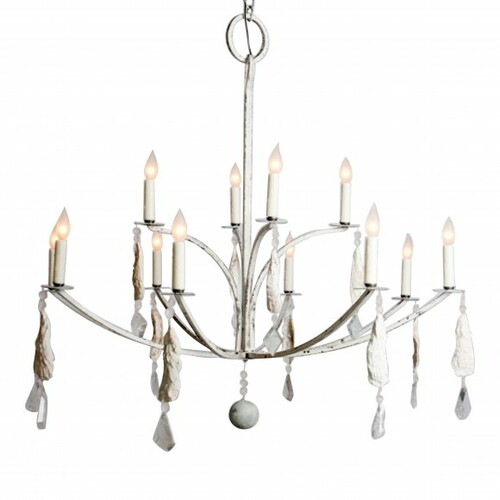 Laurel Bay Shell and Crystal Chandelier