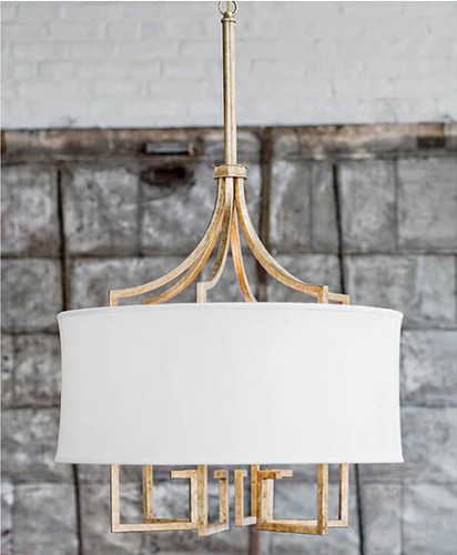 Le Chic Chandelier in Gold or Polished Nickel