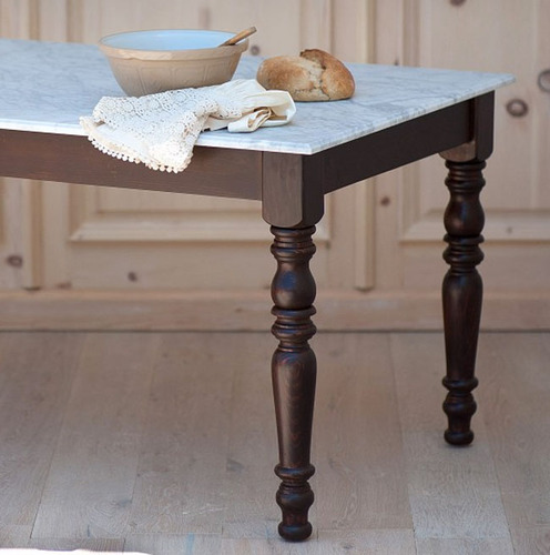 Marble English Farmhouse Dining Table For Sale Cottage