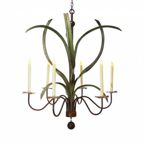 Marsh Grass Steel Chandelier
