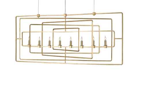 Metro Rectangular Chandelier with Two Finish Options