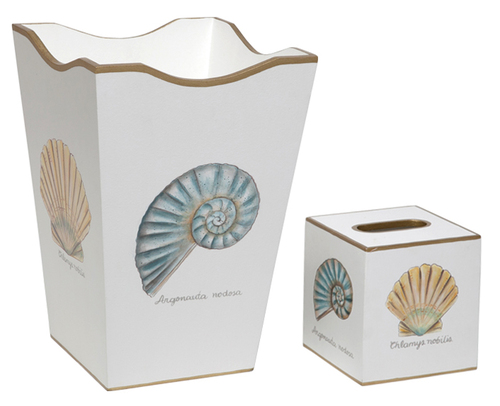 Nautilus and Scallop Bath Set