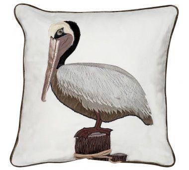 Pelican Applique Indoor Pillow
