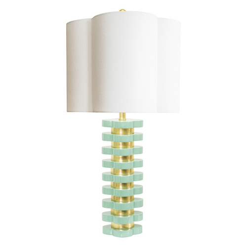 Quatrefoil Lamp in White