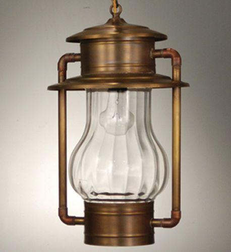 Railroad Hanging Lantern with Optic Glass