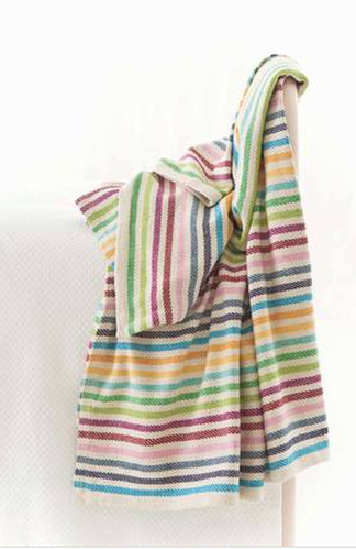 Rainbow Stripe Woven Cotton Throw<font color=a8bb35> 20% OFF</font>