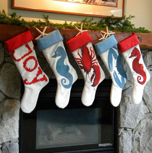 Red Seahorse Stocking