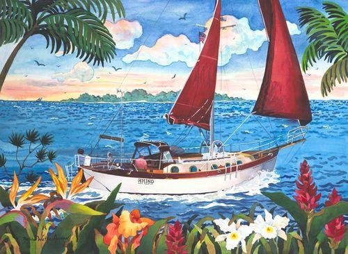 Sail Away Beach Print