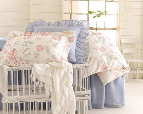 Savannah Linen Chambray French Blue Bedspread