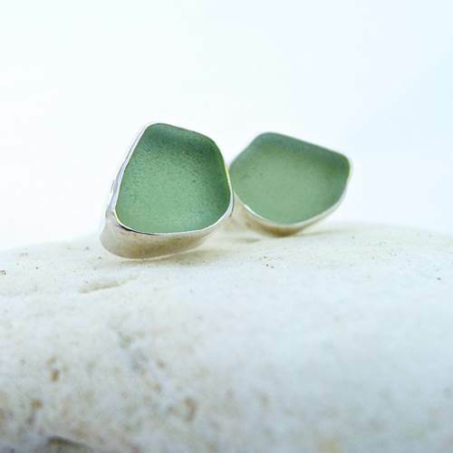 Sea Glass Classic Post Earrings