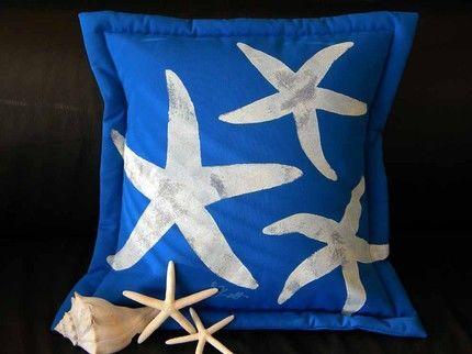 Sea Stars on Cobalt Pillow