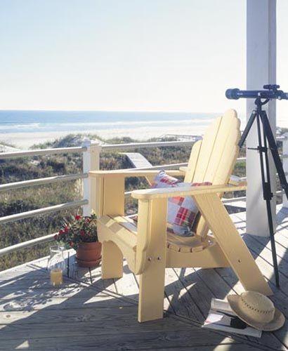 Seaside Outdoor Adirondack Fanback Chair