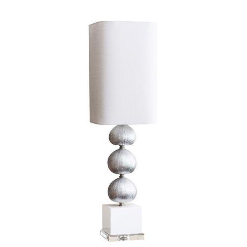 Silver Sea Urchin Buffet Lamp