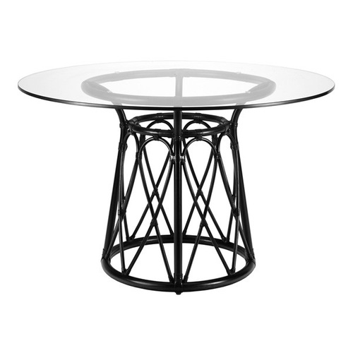 Sona 48 Rattan Dining Table Base in Clove or Nutmeg