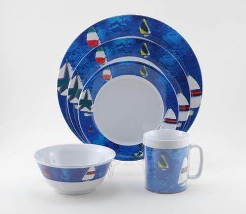Spinnaker Melamine Dinnerware Collection with Platter