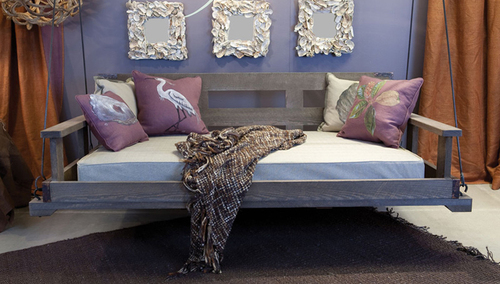 Swinging Daybed with Back