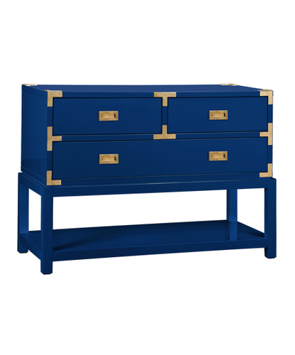 Tansu Console in High Gloss Blue