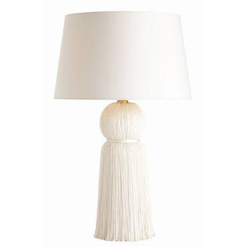 Tassel ivory table lampcottage bungalow tassel ivory table lamp aloadofball Images