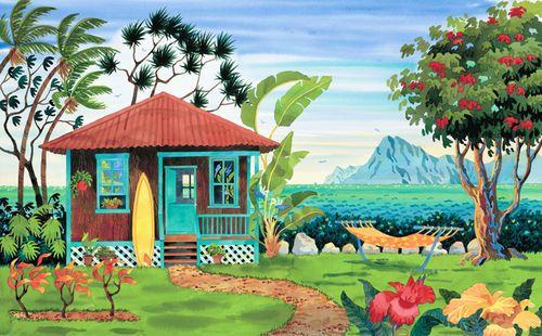The Beach House Beach Print
