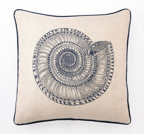 Trochus Embroidered Pillow