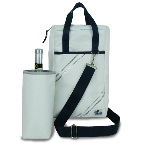 Newport Two Bottle Insulated Wine Tote in Navy