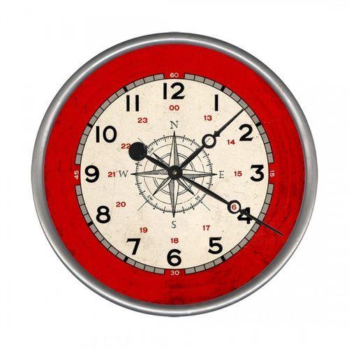 Vintage Compass Rose Clock