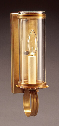 Wall Sconce with 3 x 8 Glass Cylinder