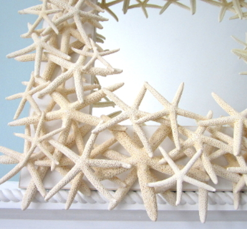 White Finger Starfish Mirror