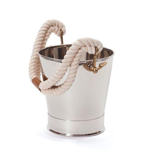 White Rope Ice Bucket
